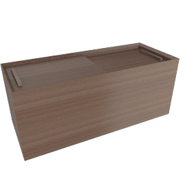 Eterno Front Storage - Walnut