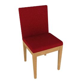 House by John Lewis Stride Dining Chair, Red