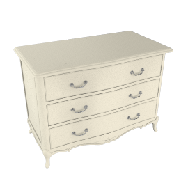 Rose 3 Drawer Chest, Ivory