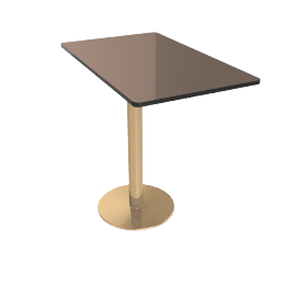 Flash Rectangular Side Table, Bronze