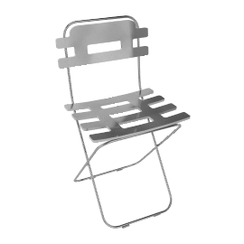 Lolly Folding Chair, Clear