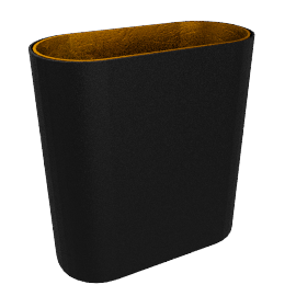 Modular Lighting Duell, black structured/gold