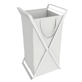 Small Tower Laundry Hamper, White