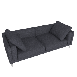 "Como 92"" Sofa in Fabric, Lama Tweed, Coal"