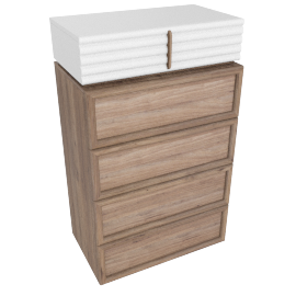 Leanne 5-Drawer Chest of Drawers