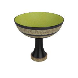 Bitossi Footed Bowl - 1378 - Green.Black
