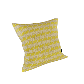 Maharam Pillow in Repeat Classic Houndstooth 17X17, Lemon