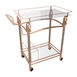 Flora Serving Trolley, Gold