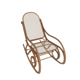 Rocking Chair from Thonet, Natural