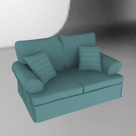 Sorrento Small Sofa, Sky Blue