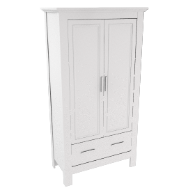 Deco Double Wardrobe, White