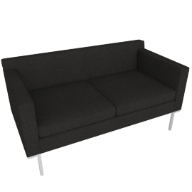 Theatre Two Seater, Maharam Mode Fabric, Terra
