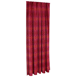 Classic Curtain Pair - 135x240 cms, Red