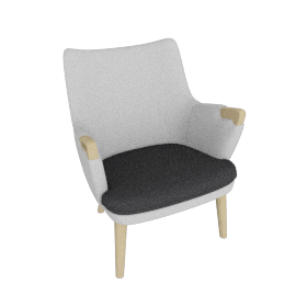 CH71 Lounge Chair, Grey
