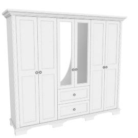 Donna Five-plus Door Wardrobe