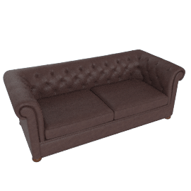 Brooks Chesterfield Sofa, Premium Leather