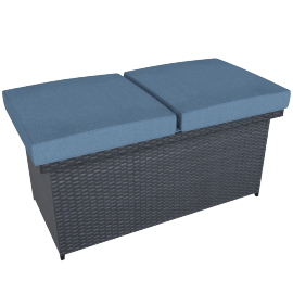 Bamblue Bench Box , Light Blue /Grey