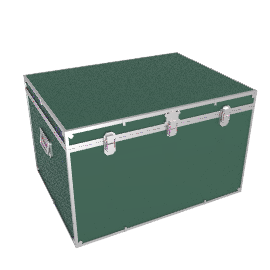 Fortified Jumbo Trunk, Green