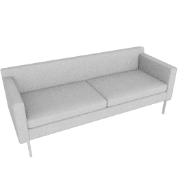 Theatre Sofa, Soft Weave Fabric, Smoke
