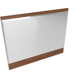 Scoop Mirror - Walnut