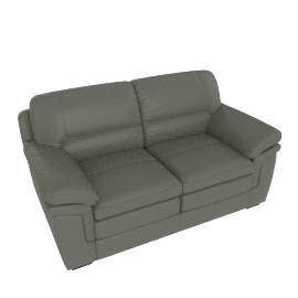Taylor 2-Seater Sofa with Splayed Arms, Grey