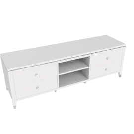 Modena TV Unit, HG Pearl Cream