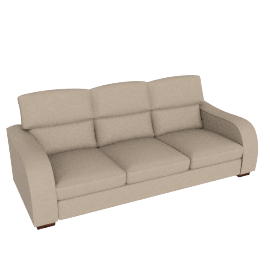 Granada Grand Leather Sofa, Cream