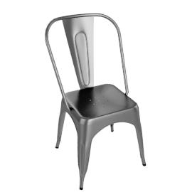 Pair of Legend Café Chairs, Gunmetal