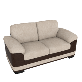 Santa Fe 2 Seater Beige and Brown