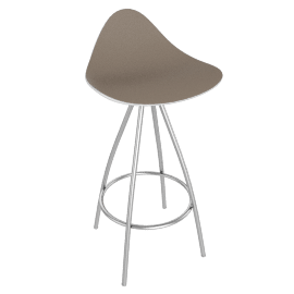Onda Counter Stool Stainless - White.Taupe