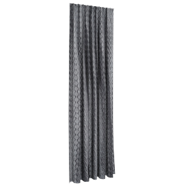 Chinelle Waves Curtain Pair - 135x300 cms, Grey
