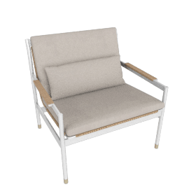 Sommer Lounge Chair, White / Natural