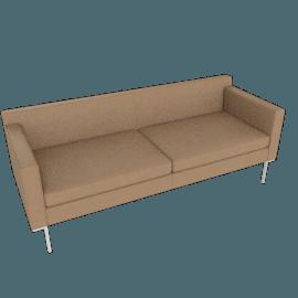 Theatre Sofa, Vienna Leather, Clay