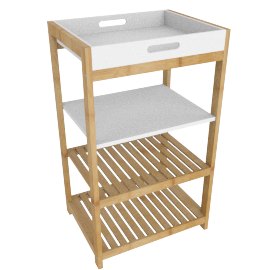 Brookline Bath Rack with 4 Tiers