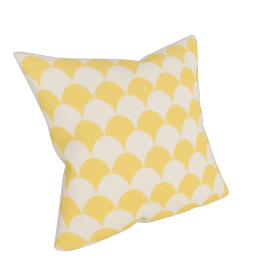 Scale Cushion Yellow