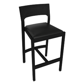 Profile Counter Stool, Black