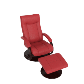 Gemini Recliner and Footstool, Cranberry