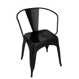 Pair of Legend Café Armchairs, Black