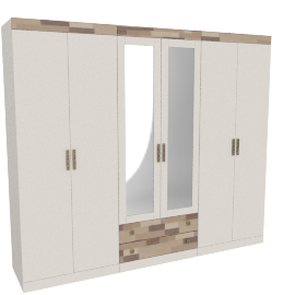 Colarado Six Door Wardrobe