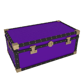 Traditional Trunk, Purple, 36""