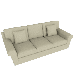 Cleo 3-Seater Sofa with Scroll Style Arms