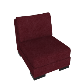 Signature 1 Seater Armless, Bordeaux