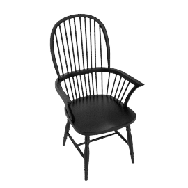 Marple Carver Dining Chair, Black