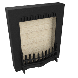 Burley Flueless Gas Fire, Environ 4244, Black Cast Aluminium