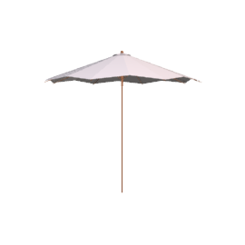 Wind-Up Aluminium Garden Parasol, Graphite/Natural