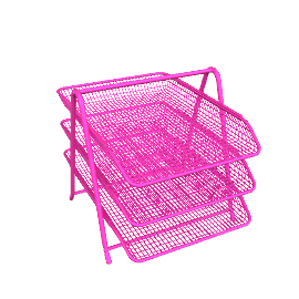 3-Tier Document Tray, Pink