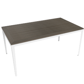 Evening Breeze Dining Table, Grey/White