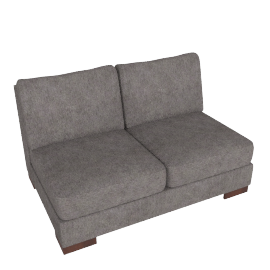 Signature 2 Seater Armless, Grey Brown