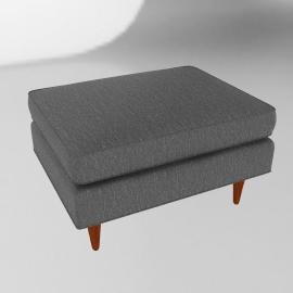 Bantam Chair Ottoman - Vienna Leather.Slate