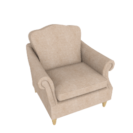 Kingsley Armchair, Rivoli Putty